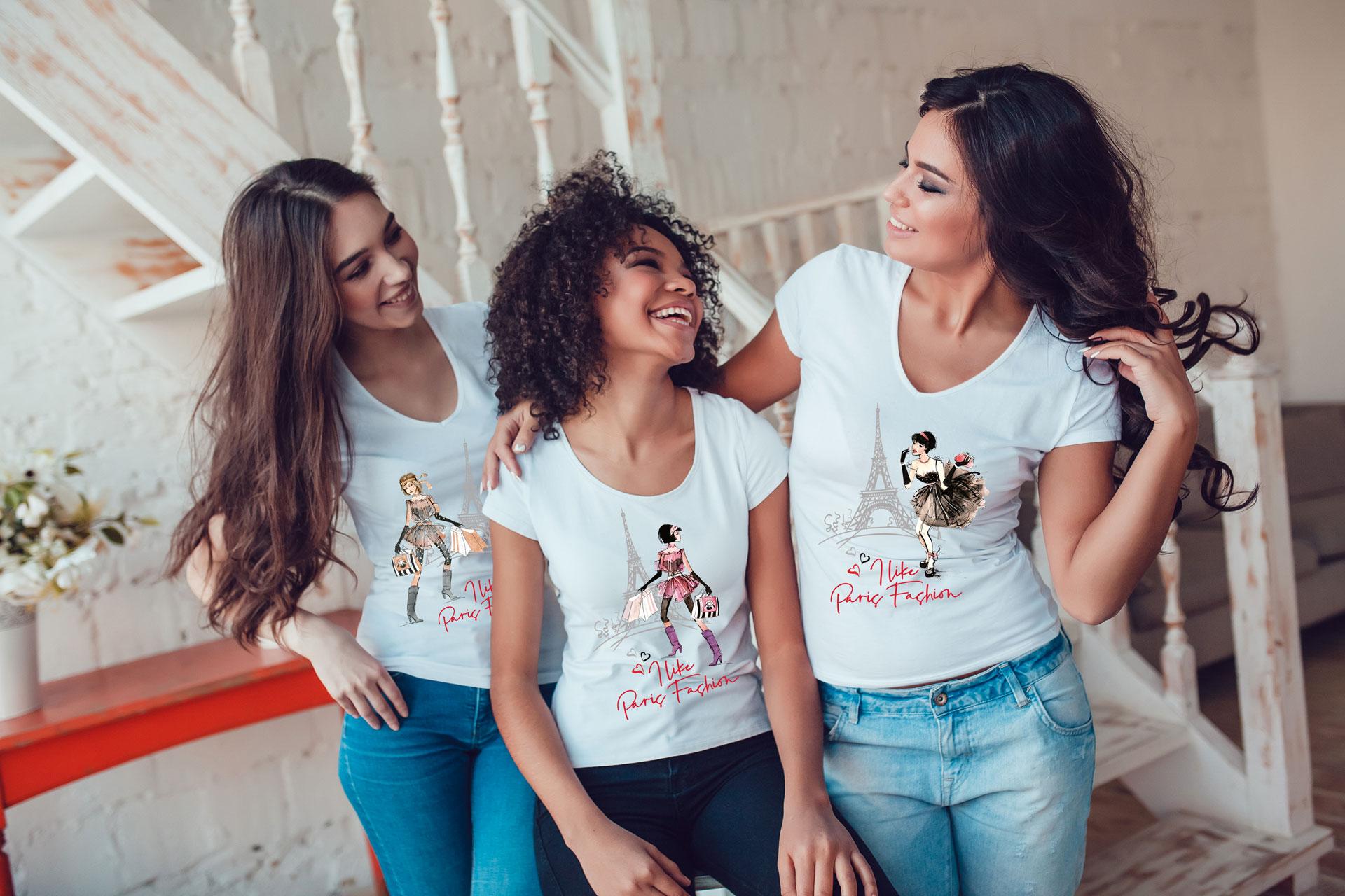 les t-shirts et sweat-shirts court très en vogue actuellement sont disponible en 5 tailles et 5 couleurs