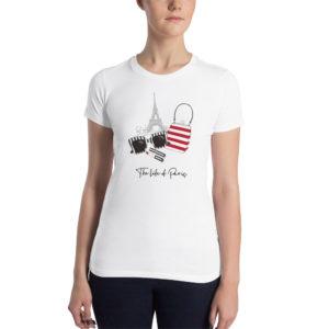 T-shirt femme la parisienne vêtements personnalisés hetb.shop