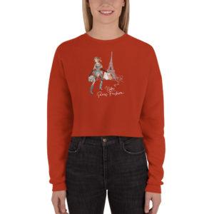 sweat-shirt court femme la parisienne vêtements personnalisés hetb.shop