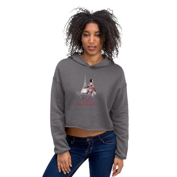 Ce Sweat-Shirt court à capuche Femme de la série la parisienne hetb